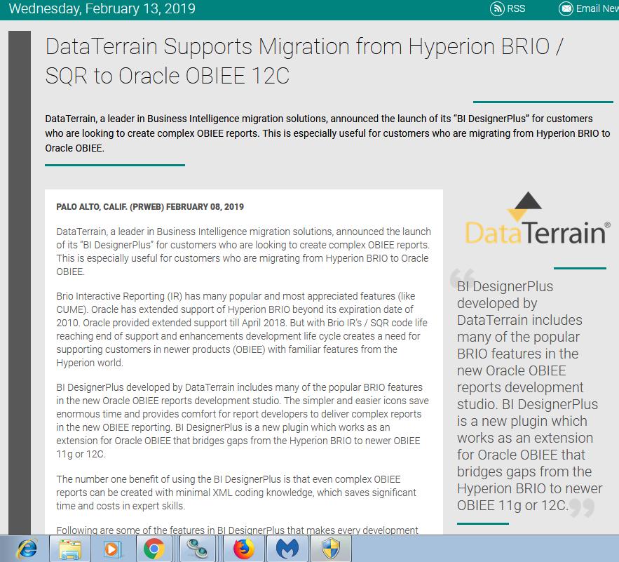 DataTerrain Supports Migration   DataTerrain